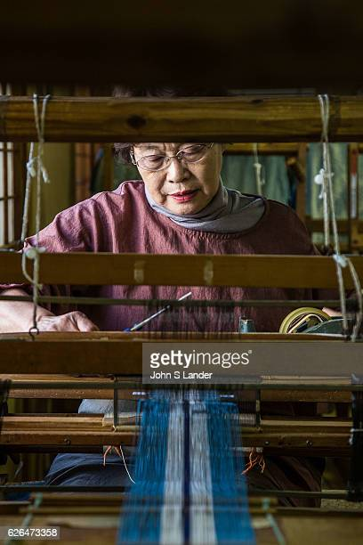 Yuki tsumugi is silk using techniques that have been in use since the 8th century All the work is done by hand including spinning and weaving...