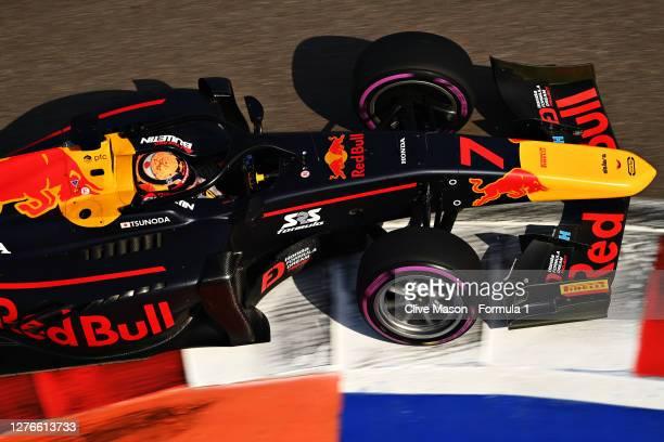Yuki Tsunoda of Japan and Carlin drives during qualifying ahead of the Formula 2 Championship at Sochi Autodrom on September 25, 2020 in Sochi,...