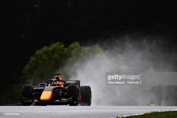 Yuki Tsunoda of Japan and Carlin drives during the feature race for the Formula 2 Championship at Red Bull Ring on July 11, 2020 in Spielberg,...