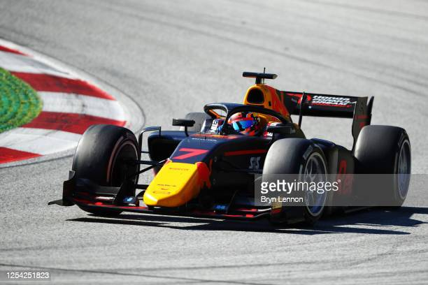 Yuki Tsunoda of Japan and Carlin drives on track during the feature race for the Formula 2 Championship at Red Bull Ring on July 04 2020 in Spielberg...