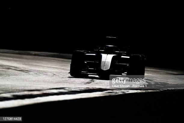 Yuki Tsunoda of Japan and Carlin drives on track during the feature race for the Formula 2 Championship at Autodromo di Monza on September 05, 2020...