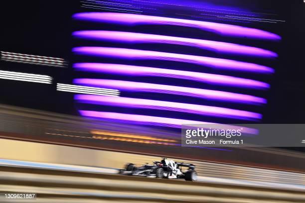 Yuki Tsunoda of Japan driving the Scuderia AlphaTauri AT02 Honda during the F1 Grand Prix of Bahrain at Bahrain International Circuit on March 28,...