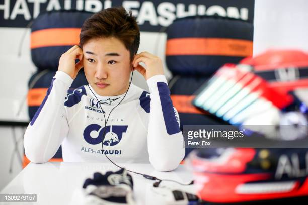 Yuki Tsunoda of Scuderia AlphaTauri and Japan during practice ahead of the F1 Grand Prix of Bahrain at Bahrain International Circuit on March 26,...