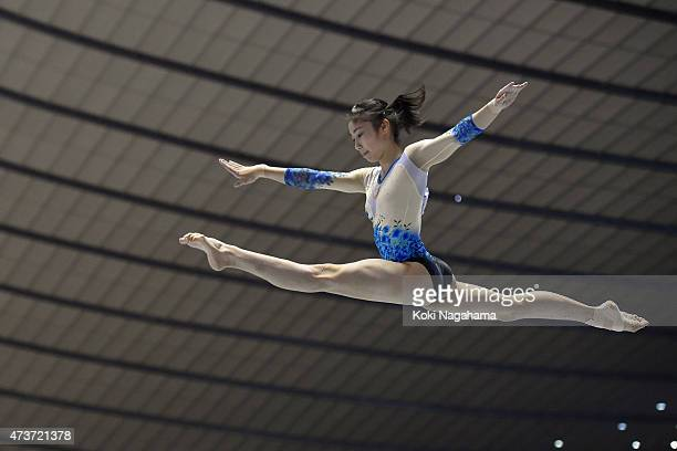 Yuki Uchiyama competes on the Balance Beam during the Artistic Gymnastics NHK Trophy at Yoyogi National Gymnasium on May 17 2015 in Tokyo Japan