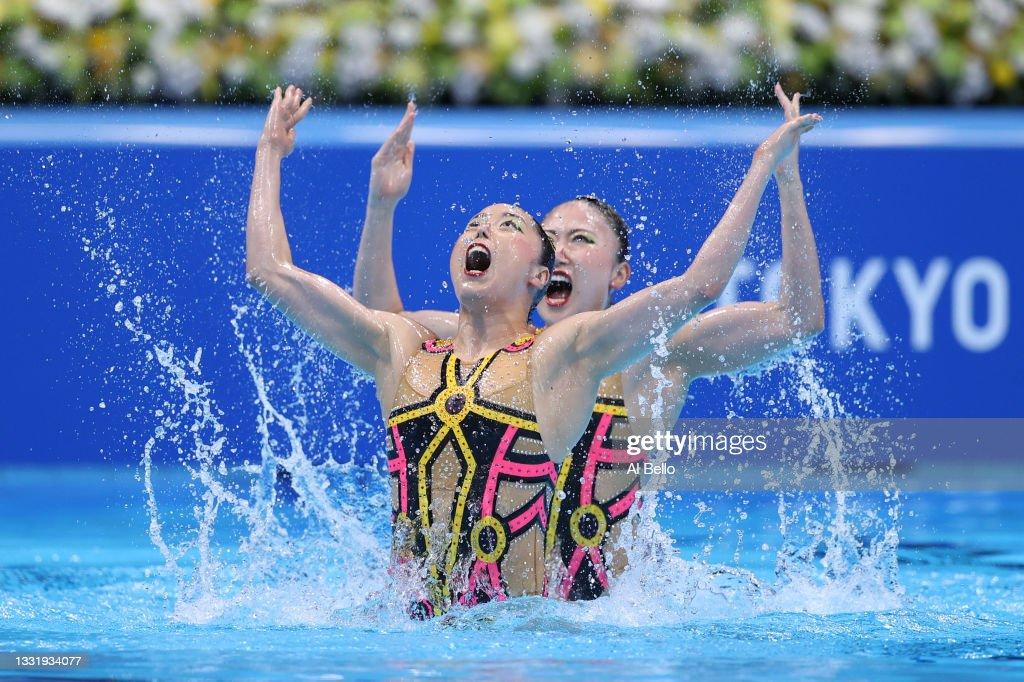 Artistic Swimming - Olympics: Day 10 : Nachrichtenfoto