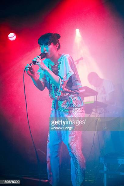 Yukimi Nagano and Arild Werling of Little Dragon performs on stage at Cockpit on February 23 2012 in Leeds United Kingdom