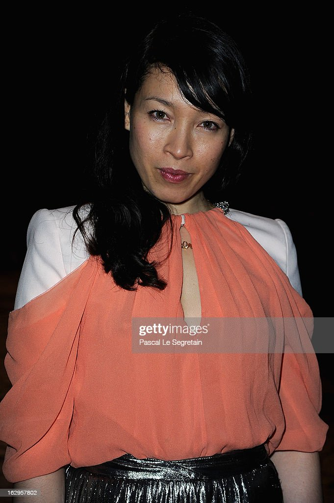Yukimi Nagano attends the front row at the Viktor&Rolf Fall/Winter 2013 Ready-to-Wear show as part of Paris Fashion Week on March 2, 2013 in Paris, France.