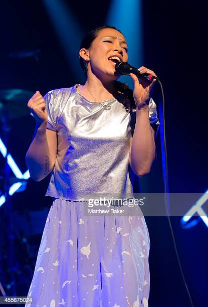 Yukimi Nagano of Little Dragon performs as part of the iTunes Festival at The Roundhouse on September 18 2014 in London England