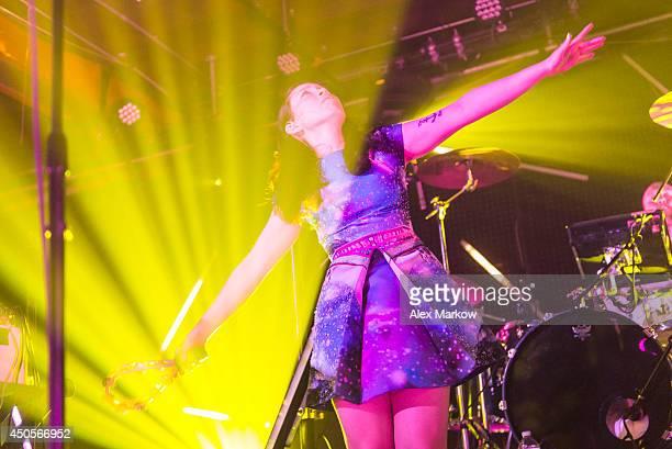 Yukimi Nagano of Little Dragon performs at Grand Central Miami on June 12 2014 in Miami Florida