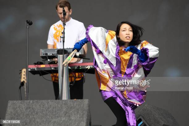 Yukimi Nagano of Little Dragon performs at the BBC 6Music Biggest Weekend at Titanic Slipways on May 26 2018 in Belfast Northern Ireland