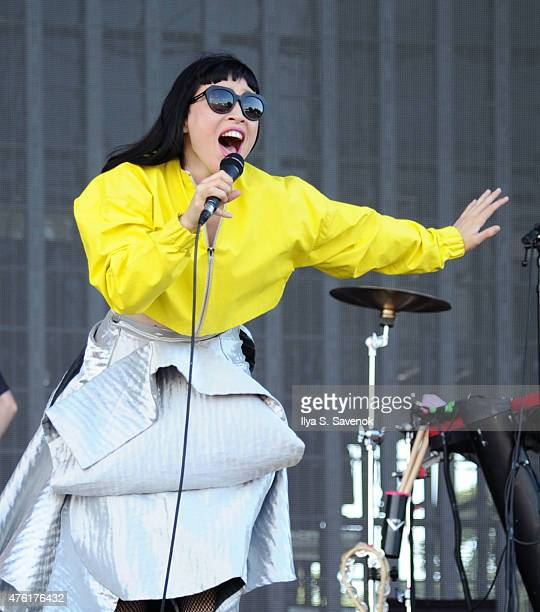 Yukimi Nagano of Little Dragon performs during the 2015 Governors Ball Music Festival Day 2 at Randall's Island on June 6 2015 in New York City