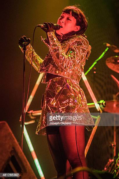 Yukimi Nagano of Little Dragon performs on Day 2 of Lovebox festival taking place at Victoria park on July 18 2015 in London United Kingdom
