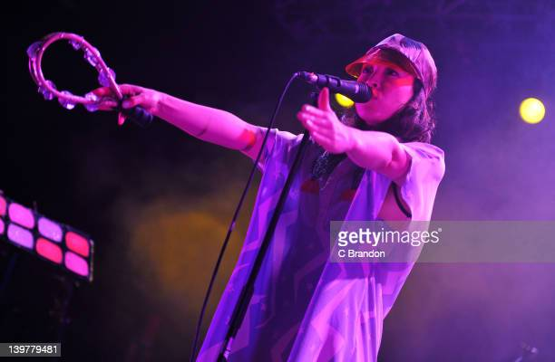Yukimi Nagano of Little Dragon performs on stage at HMV Forum on February 24 2012 in London United Kingdom