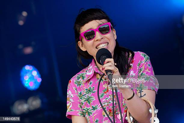 Yukimi Nagano of Little Dragon performs on stage during Camp Bestival at Lulworth Castle on July 28 2012 in Wareham United Kingdom