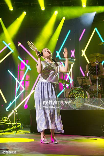 Yukimi Nagano of Little Dragon performs onstage during the 18th night of the iTunes Festival 2014 at The Roundhouse on September 18 2014 in London...