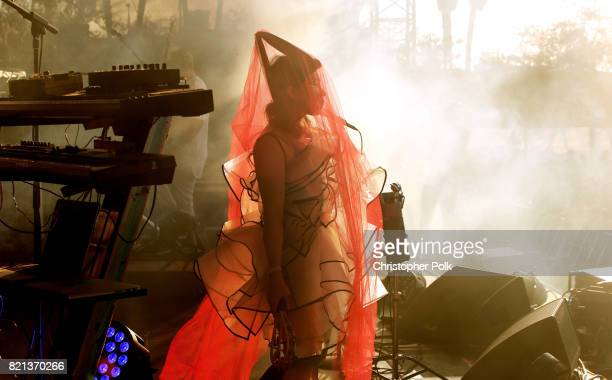 Yukimi Nagano of Little Dragon performs onstage on day 3 of FYF Fest 2017 at Exposition Park on July 23 2017 in Los Angeles California