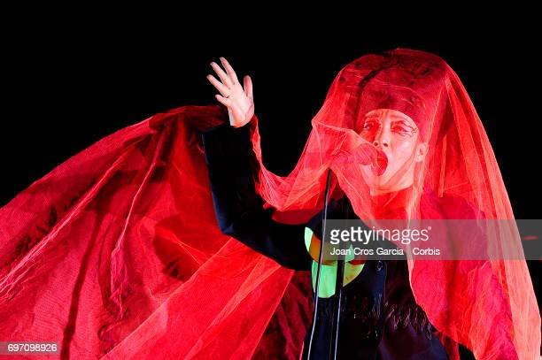 Yukimi Nagano the singer of Little Dragon during the second day of Sonar Music Festival on June 16 2017 in Barcelona Spain