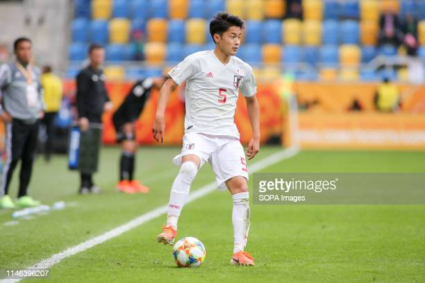 Yukinari Sugawara from Japan seen in action during the FIFA U-20 World Cup match between Mexico and Japan in Gdynia. .