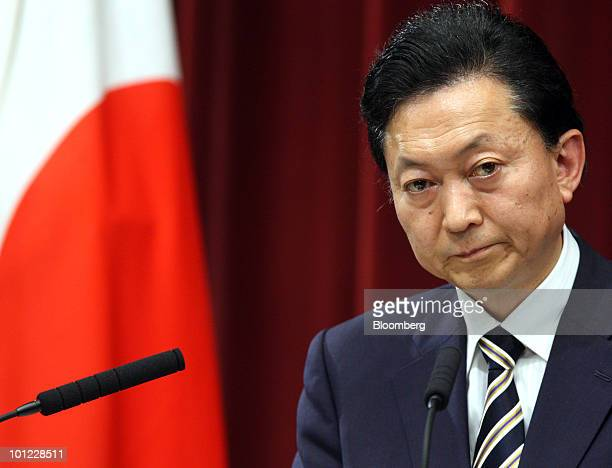Yukio Hatoyama Japan's prime minister listens a question from a reporter during a news conference at the prime minister's official residence in Tokyo...