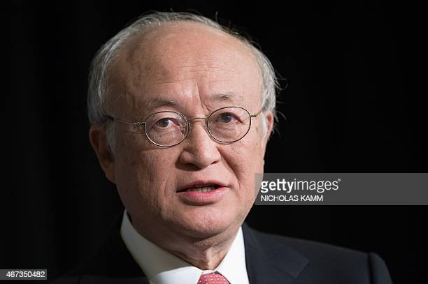 Yukiya Amano, Director General of the International Atomic Energy Agency , speaks at the Carnegie International Nuclear Policy Conference in...