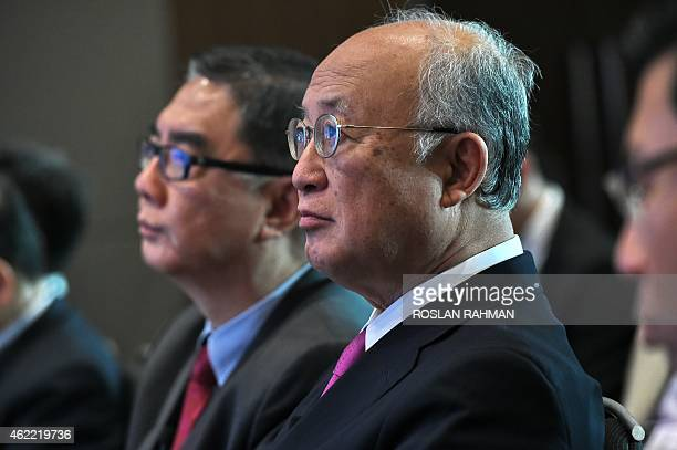 Yukiya Amano, director general of the International Atomic Energy Agency, with Ambassador Ong Keng Yong , executive deputy chairman of the S....