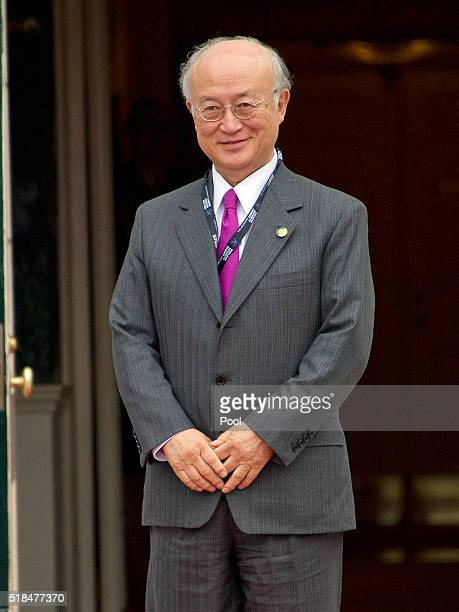 Yukiya Amano , Director General of the International Atomic Energy Agency arrives for the working dinner for the heads of delegations at the Nuclear...
