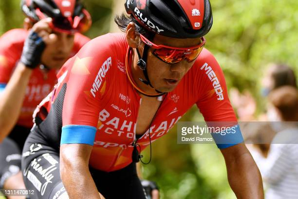 Yukiya Arashiro of Japan and Team Bahrain Victorious during the 60th Itzulia-Vuelta Ciclista Pais Vasco 2021, Stage 4 a 189,2km stage from...