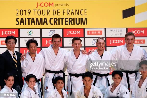 Yukiya Arashiro of Japan and Team Bahrain-Merida Tour of France Japan Rider / Lilian Calmejane of France and Team Total Direct Energie / Michal...