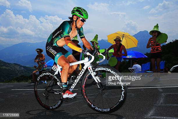 Yukiya Arashiro of Japan and Team Europcar rides during stage seventeen of the 2013 Tour de France, a 32KM Individual Time Trial from Embrun to...