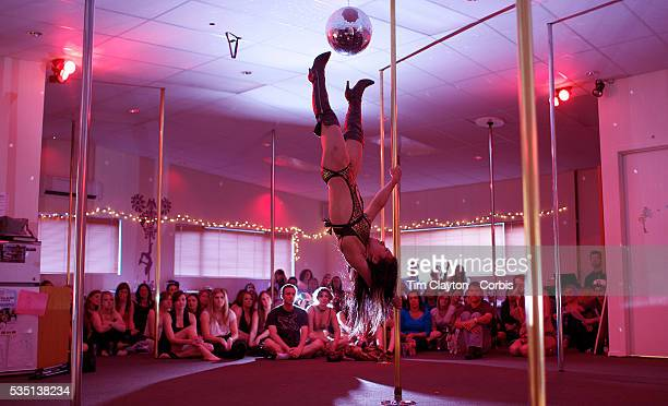 Yukka Adachi pole dancing during the Queenstown Pole Studios end of year show at the Queenstown Pole Studio Gorge Road Queenstown South Island New...