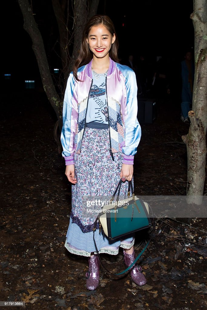 Yuko Arai attends the Coach 1941 fashion show during New York Fashion Week on February 13, 2018 in New York City.