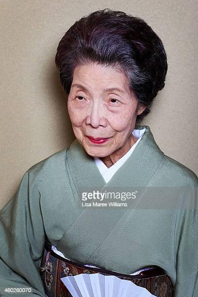 Yuko Asakusa poses at her home in the Asakusa District on November 6 2014 in Tokyo Japan 91 year old Yuko Asakusa became a Geisha at the age of 16...