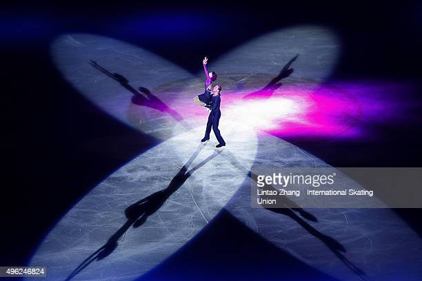 Yuko Kavaguti and Alexander Smirnov of Russia perform during the Exhibition Program on day three of Audi Cup of China ISU Grand Prix of Figure...