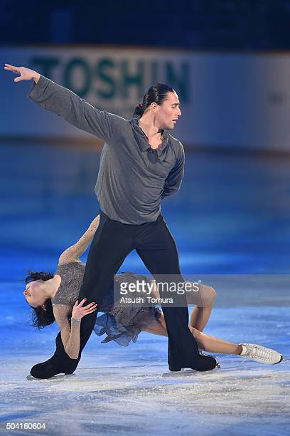 Yuko Kavaguti and Alexander Smirnov of Russia perform their routine during the NHK Special Figure Skating Exhibition at the Morioka Ice Arena on...