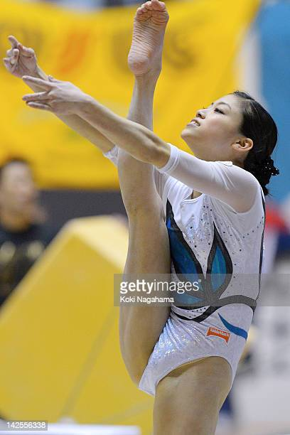 Yuko Shintake of Japan competes on the Balance Beam during day one of the 66th All Japan Artistic Gymnastics All Around Championships at Yoyogi...