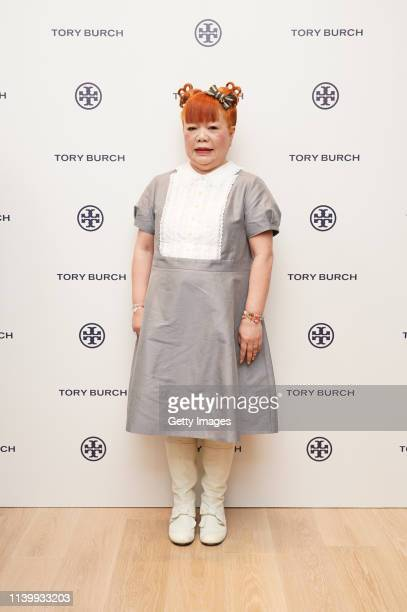 Yuko Yamaguchi attends the Tory Burch Ginza Boutique Opening on April 02 2019 in Tokyo Japan