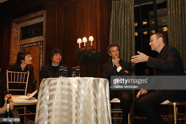 Yuko Yasutake Tadao Ando Alessandro Benetton and Mark Wigley attend Architecture for Benetton a conversation between Tadao Ando and Alessandro...