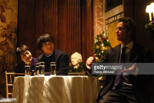 Yuko Yasutake Tadao Ando and Alessandro Benetton attend Architecture for Benetton a conversation between Tadao Ando and Alessandro Benetton at New...