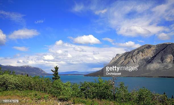 Yukon Mountains and Lake