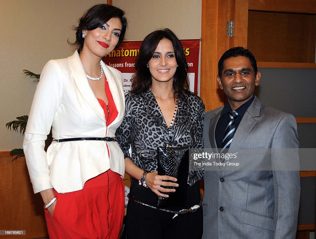 Yukta Mookhey, Tulip Joshi and Vinod Nair at the launch of Dr. Rakesh Sinha's DVD in Mumbai on 14th May, 2013.