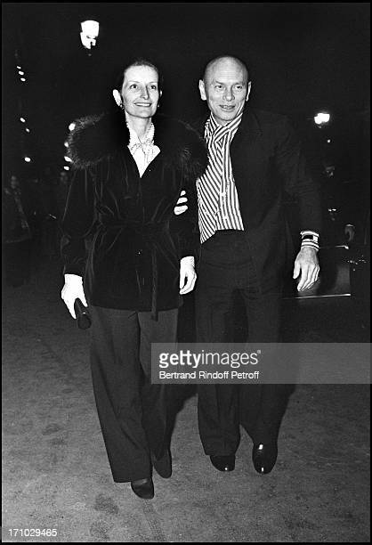 Yul Brynner and his wife Jacqueline De Croisset in Paris in 1973.