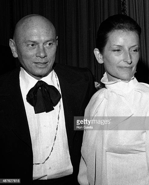 Yul Brynner and wife Jacqueline de Croisset attend First Annual American Film Institute Lifetime Achievement Awards Honoring John Ford on March 30,...