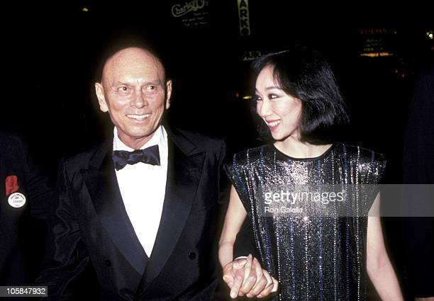 Yul Brynner and wife Kathy Lee during 39th Annual Tony Awards at Schubert Theater in New York City New York United States