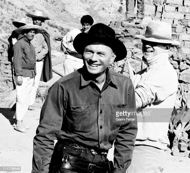 Yul Brynner during the filming of the movie 'Return of the seven' directed by Burt Kennedy in Almeria Almeria Spain