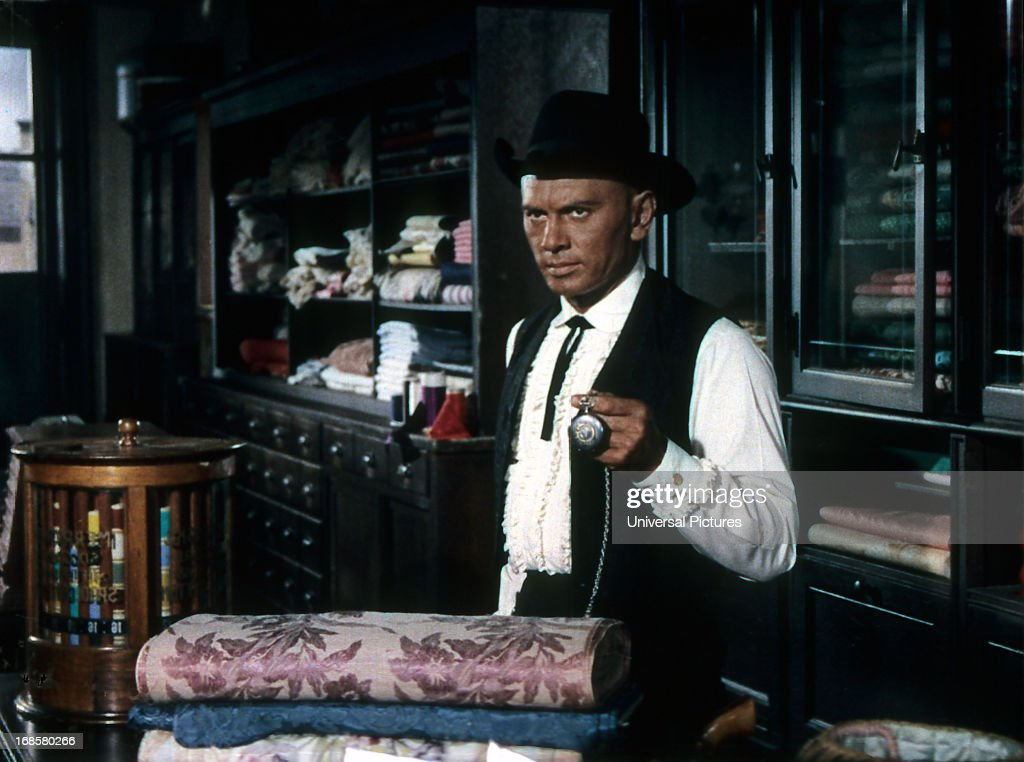 Yul brynner in invitation to a gunfighter pictures getty images yul brynner in a scene from the film invitation to a gunfighter stopboris Image collections