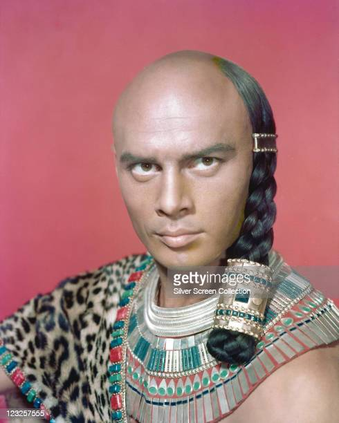 Yul Brynner Russianborn US actor in costume in a publicity portrait issued for the film 'The Ten Commandments' 1956 The biblical epic directed by...