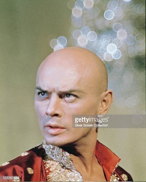 Yul Brynner Russianborn US actor in costume in a publicity still issued for the film 'The King and I' 1956 The musical directed by Walter Lang...
