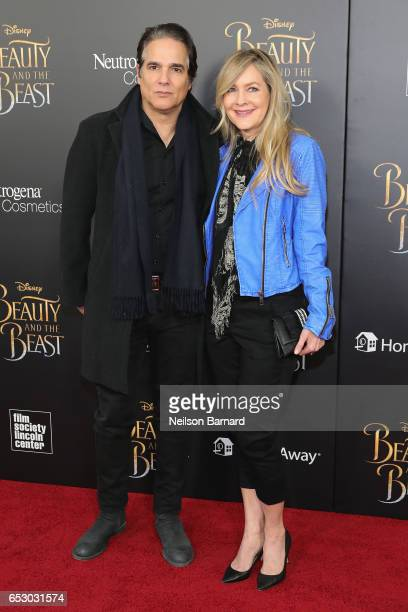 Yul Vazquez and Linda Larkin attend the 'Beauty And The Beast' New York Screening at Alice Tully Hall at Lincoln Center on March 13 2017 in New York...