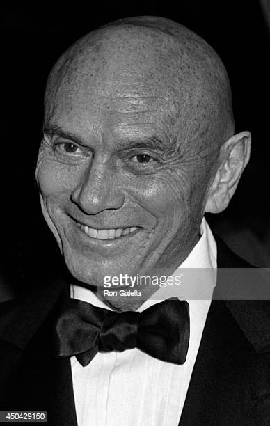 Yule Brenner attends the premiere of Heaven's Gate on November 18 1980 at Cinema I in New York City