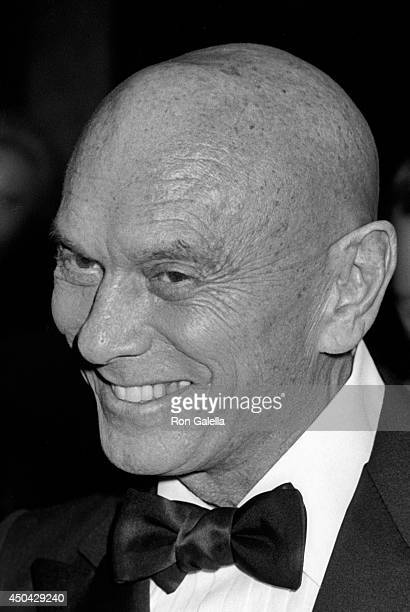 """Yule Brenner attends the premiere of """"Heaven's Gate"""" on November 18, 1980 at Cinema I in New York City."""